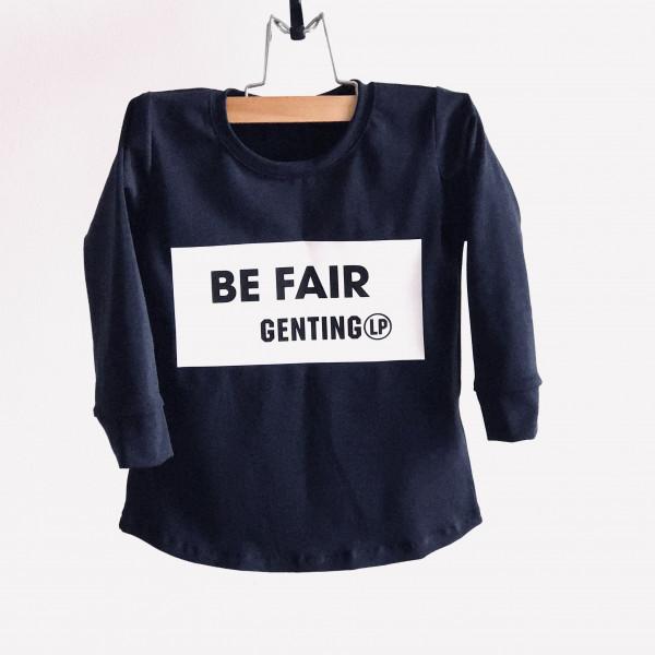 BE FAIR-tričko navy