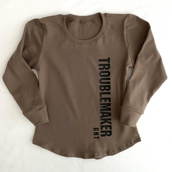 Hnedé tričko -Troublemaker GNT