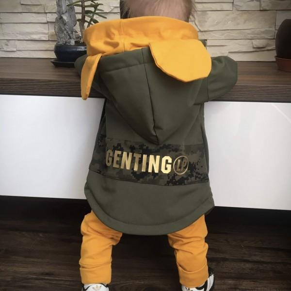 Softshellová bunda khaki