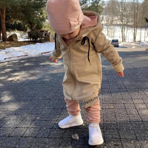 Softshellová bunda - kamel